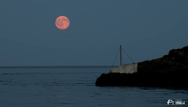 2nd July 2015 - Hay moon over White Rock © Ian Foster / fozimage