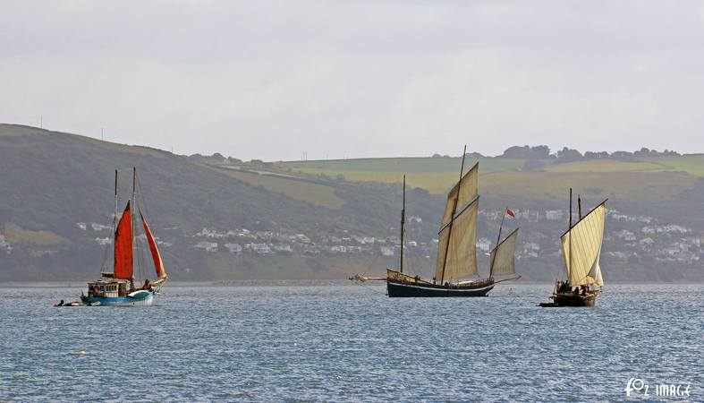 21st June 2015 - Looe Lugger Regatta - Rose of Argyll and Grayhound © Ian Foster / fozimage