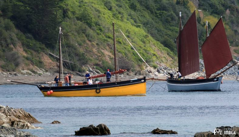 21st June 2015 - Looe Lugger Regatta - Erin and Spirit of Mystery © Ian Foster / fozimage