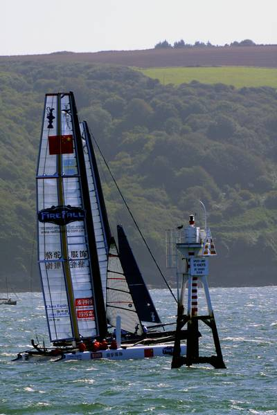 America's Cup World Series - China Team - Plymouth Sound - © Ian Foster / fozimage
