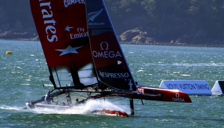 America's Cup World Series - Emirates Team New Zealand - Plymouth Sound - © Ian Foster / fozimage