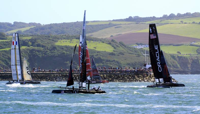 America's Cup World Series - Energy Team - Plymouth Sound - © Ian Foster / fozimage