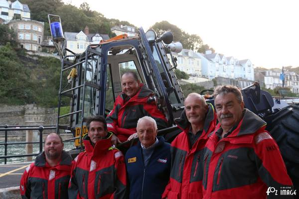 30th September 2015 - Looe RNLI - Dave Haines and the shore crew. © Ian Foster / fozimage